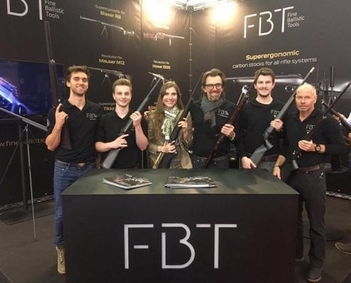 Das FBT Team am Messestand