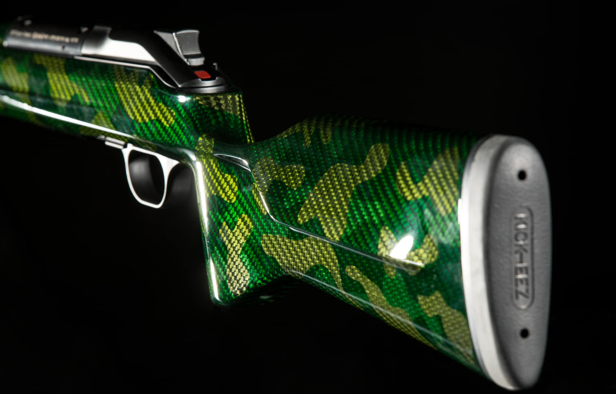 custom stock green camouflage